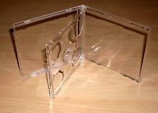 3 CD Hüllen durchsichtig / transparent f. 2 CDs 2-fach DVDs Maxi aufklappbar Neu
