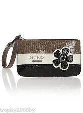 NEW GUESS CAMELLIA WRISTLET CLUTCH BAG PURSE