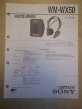 Sony Service Manual~WM-WX50 Walkman Cassette Player~Original~Repair