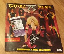 DEE SNIDER TWISTED SISTER signed auto UNDER THE BLADE Record COA JSA PHOTO PROOF