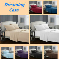 Egyptian Comfort 1800 Count 4 Piece Deep Pocket Bed Sheet Set King Queen Size H2