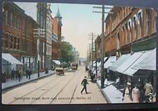 CANADA HALIFAX NS BARRINGTON STREET @ SACKVILLE ST-1900s  Pedestrians Stores