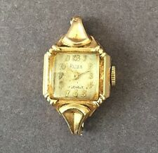 Vintage 1940's Ritex 17 Jewels Ladies Cocktail Watch14K Gold- No Band included