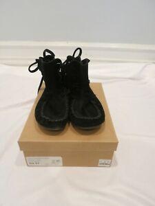 J. CREW black flat moccasin bootie size 9