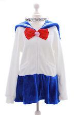 Ta-56 Sailor Moon Cosplay Matrosen weiß Sweatshirt Fleece Jacke Lolita Harajuku