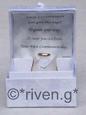 Primo regalo COMMUNION@Angel Box@Glass @Card Verse@UNIQUE @CONFIRMATION RICORDO Set