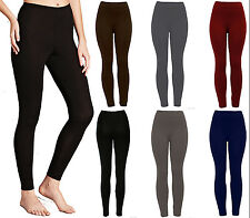 BRAND NEW WOMEN LADIES  WINTER THERMAL FLEECE LINING LEGGINGS WARM SIZE UK 08-18