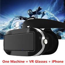 360° Smart 3D VR Box Video Glasses HDMI USB TF WIFI + Headset