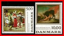 DENMARK 1984 PAINTINGS SC#767-68 MNH CV$8.00 CATTLE, COSTUMES  E15-8