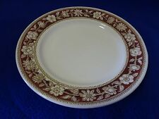 """BROADHURST MADE IN ENGLAND IRONSTONE 9 1/4"""" PLATE-WINDSOR-WHITE W. CRANBERRY TRI"""