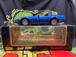 Maisto Special Edition 1992 Chevrolet Corvette ZR-1 1:18 Scale Blue Stingray 350