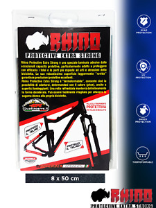 Pellicola Adesiva Rhino Frame per Protezione Telaio Bici, Nero, 8 x 50 cm