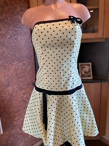 Vintage Jessica McClintock Gunne Sax Dress 7 Yellow/Black dots  Made in USA