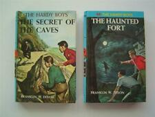 2 Hardy Boys Mystery Books SECRET OF THE CAVES #7 1964/THE HAUNTED FORT #44 1965