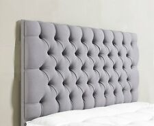 Stylish Chenille Fabric ,Colchester Diamante/Buttons, Headboard  26'' Height