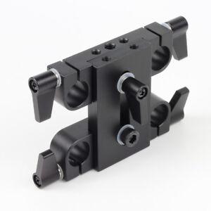 60mm Spacing Riser Bridge Adapter 15mm Rod Clamp fr LWS Arriflex ARRI DSLR Rig