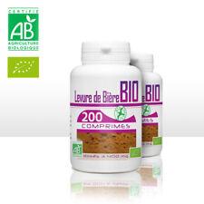 LEVURE DE BIERE BIO - VITAMINE B + E - 400 mg - 200 comprimée - X2