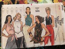 Vintage Original Vogue 8440. Fitted Halter, tuck ins, neckline variations. Sz 10