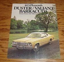 Original 1973 Plymouth Duster Valiant Barracuda Sales Brochure 73