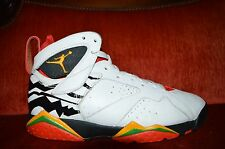 Nike Air Jordan VII 7 Retro PREMIO BIN 23 WHITE RED BLACK Size 8 436206-101 9/10