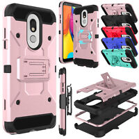For LG Stylo 5/5v/5 Plus/4+ Case With Belt Clip Stand Holder Holster Phone Cover