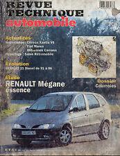 RTA revue technique automobiles N° 593 RENAULT scenic megane essence