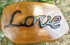 Love Stone, Stepping Stone, Concrete Mold, plastic mold, cement, plaster