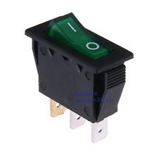 Interruttore a Bilanciere 230V Bipolare Luminoso Verde On/Off 34x16mm Illuminato