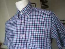 PAUL & SHARK YACHTING S/S SHIRT  39 chest slim fit  M madras check casuals top t