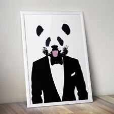 PANDA SUIT POP ART CUTE ANIMAL A3 STREET POSTER PRINT - LIMITED EDITION OF 100