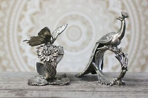 REED & BARTON, 1824 Collection, Butterfly and Peacock, Napkin Ring, Silverplate