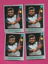 4 X  RARE ANDRE AGASSI TENNIS PLAYER MINT CARD (INV# C3263)