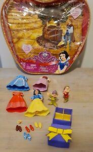 Princess Polly Pocket Doll / Figures With Dresses .Snow White.  V.G.C preloved