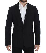 NWT $1600 DOLCE & GABBANA Black Wool Stretch MARTINI Blazer Jacket s. IT44/ US34