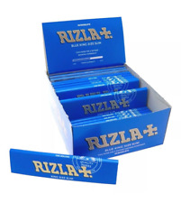 Full Box of 50 Booklets Rizla King Size Blue Slim Rolling Cigarette Papers