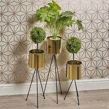 Decorative Golden Metal Flower Pot Holder Stand Indoor Outdoor Office Home Decor