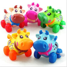 Cartoon Wind Up Baby Cow Toy Newborn Running Clockwork Spring Toy Toddlers ~