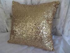 Super Champagne Gold Sequins Cushion Cover Home Decor Throw 40cm