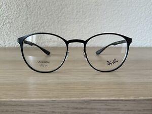 Ray Ban Brillenfassung Brille Gestell Mod. RB 6355 Schwarz Matt Rund Panto NEU