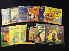 12-lot-halloween books-Wacky Witch War-has itch-cats-trick or treat-boo-ghosts**