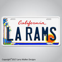 Los Angeles Rams LA RAMS Aluminum License Plate Tag New