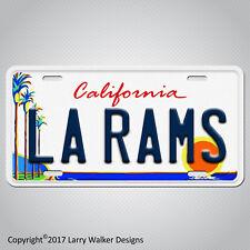 Los Angeles Rams LA RAMS Aluminum License Plate Tag New