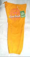 Victoria's Secret LOVE PINK yellow sweatpants MEDIUM CAPRI large logo kneelength