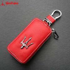 Genuine leather Key Case Holder Cover for Maserati Ghibli GT GC Quattroporte Red