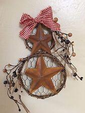 DLCC~Grapevine wreaths wall decor barn stars homespun Pip Berry Primitive