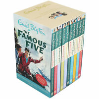 NEW The Famous Five Books 10 Classic Books Gift Box Collection by Enid Blyton