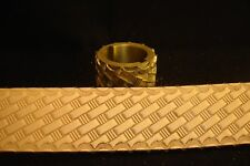 Leather Embossing Machine Roller with Basketweave pattern Brass 1-1/2""