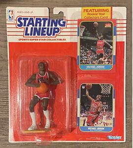 Starting Lineup MICHAEL JORDAN 1990 with Rookie 1986 Fleer Rookie Card RP #57