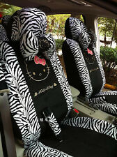Car Seat Covers Zebra Hello Kitty Cartoon Universal Car Interior 18 Pieces
