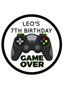 24 x PERSONALISED XBOX STICKERS LABELS Sweet Cones Party Bags birthday gaming